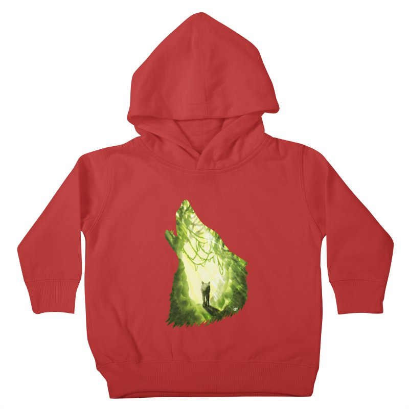 Wolf's Forest Kids Toddler Pullover Hoody by DVerissimo's