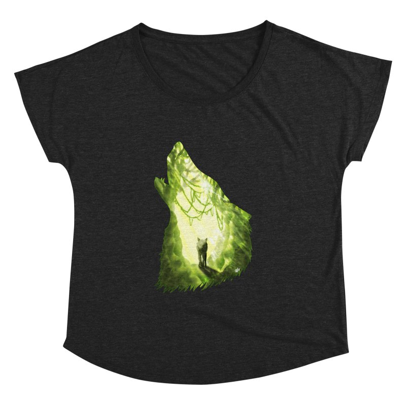 Wolf's Forest Women's Dolman Scoop Neck by DVerissimo's