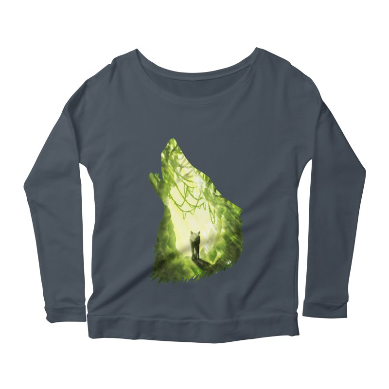Wolf's Forest Women's Scoop Neck Longsleeve T-Shirt by DVerissimo's