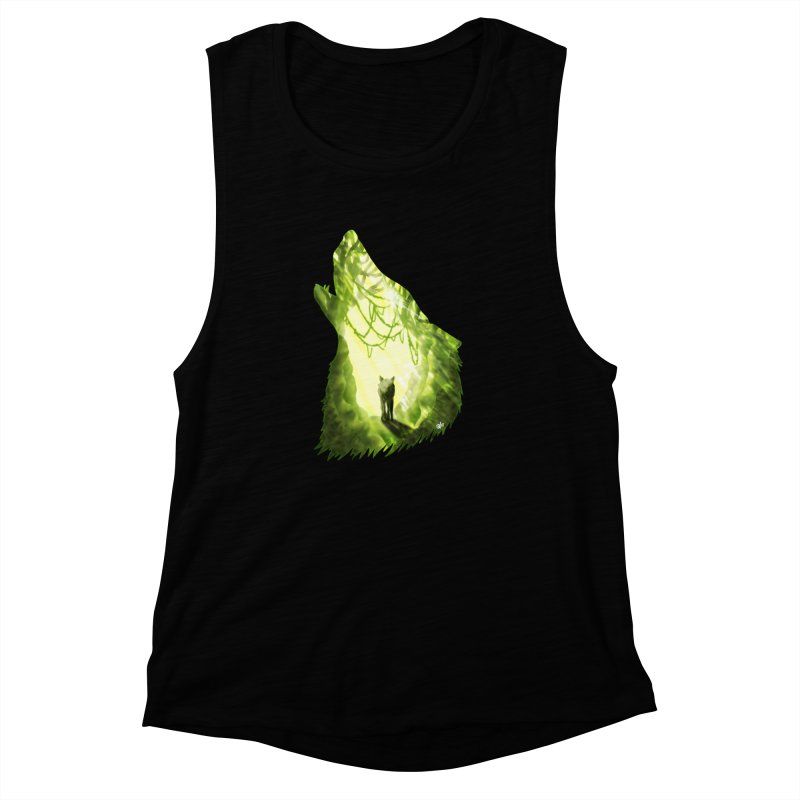 Wolf's Forest Women's Muscle Tank by DVerissimo's
