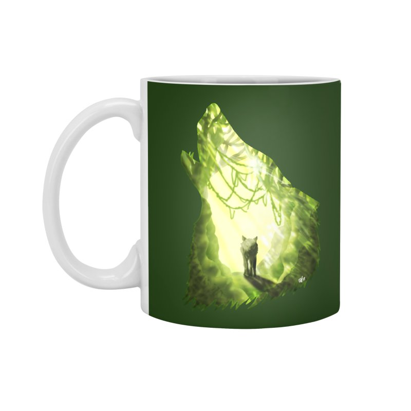 Wolf's Forest Accessories Standard Mug by DVerissimo's