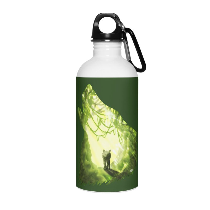 Wolf's Forest Accessories Water Bottle by DVerissimo's