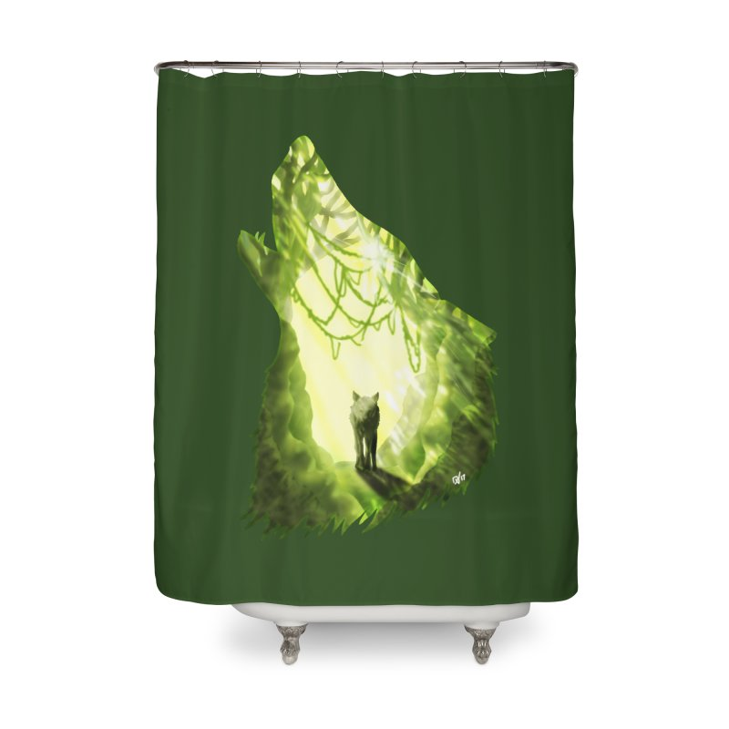 Wolf's Forest Home Shower Curtain by DVerissimo's