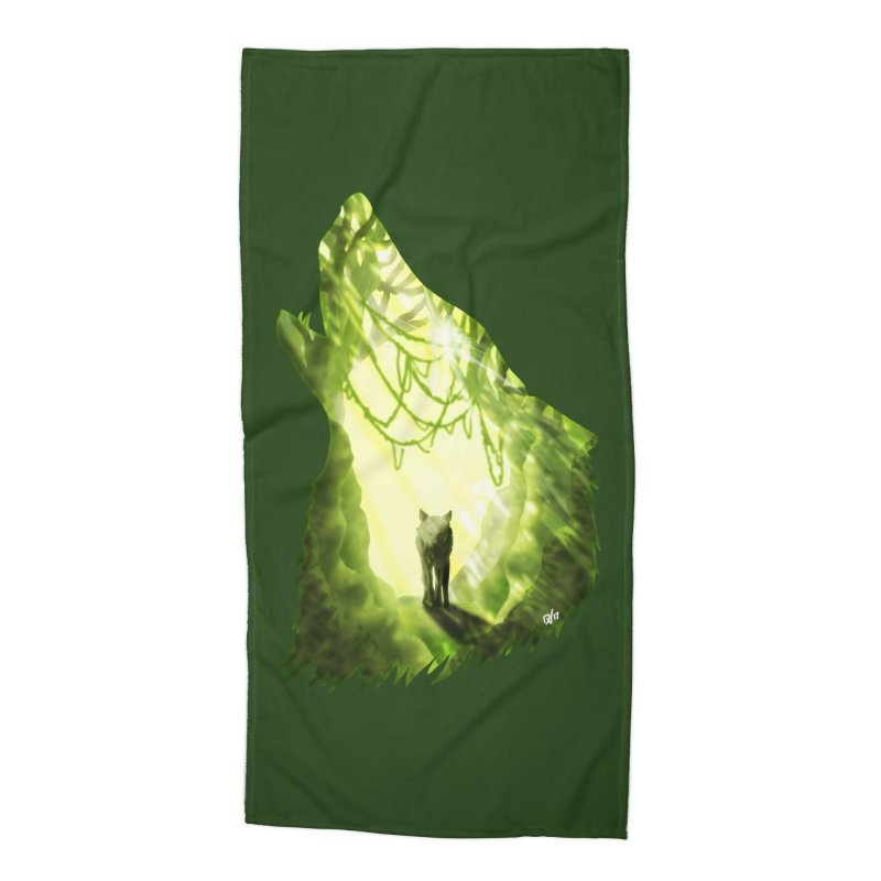 Wolf's Forest Accessories Beach Towel by DVerissimo's