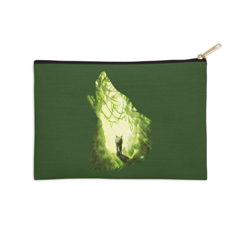 Wolf's Forest Accessories Zip Pouch by DVerissimo's
