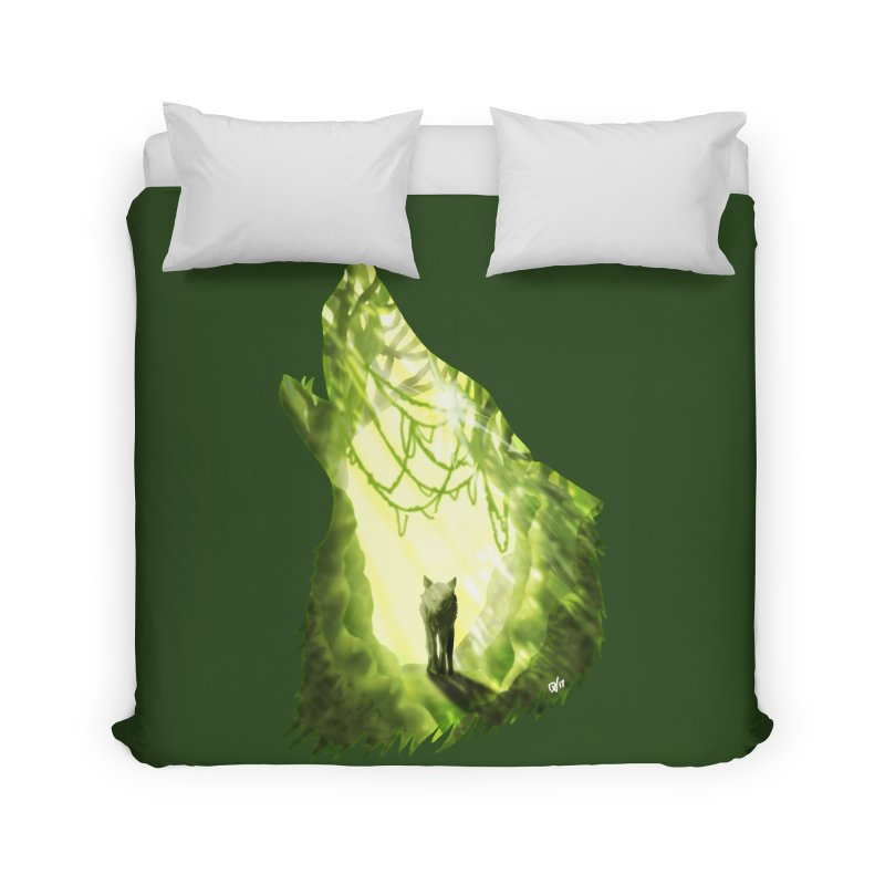 Wolf's Forest Home Duvet by DVerissimo's