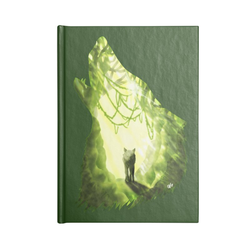 Wolf's Forest Accessories Blank Journal Notebook by DVerissimo's
