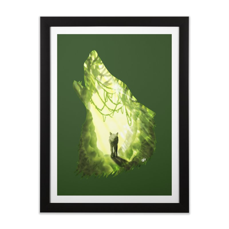 Wolf's Forest Home Framed Fine Art Print by DVerissimo's