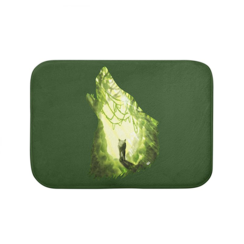 Wolf's Forest Home Bath Mat by DVerissimo's