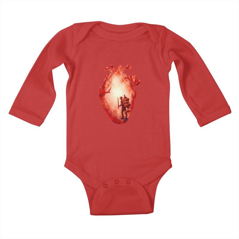 Guiding Light Kids Baby Longsleeve Bodysuit by DVerissimo's