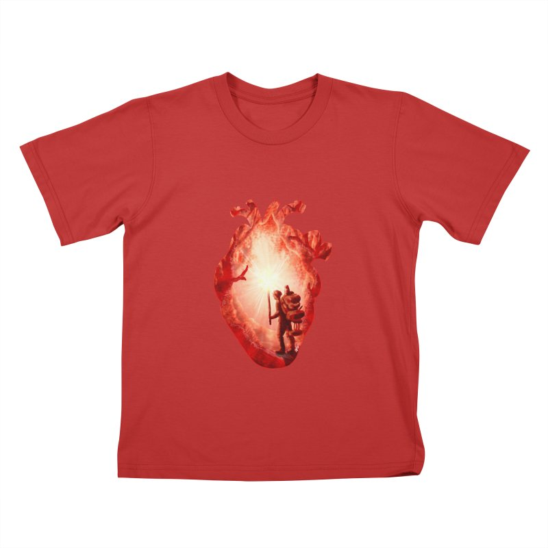 Guiding Light Kids T-Shirt by DVerissimo's