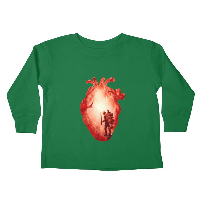 Guiding Light Kids Toddler Longsleeve T-Shirt by DVerissimo's