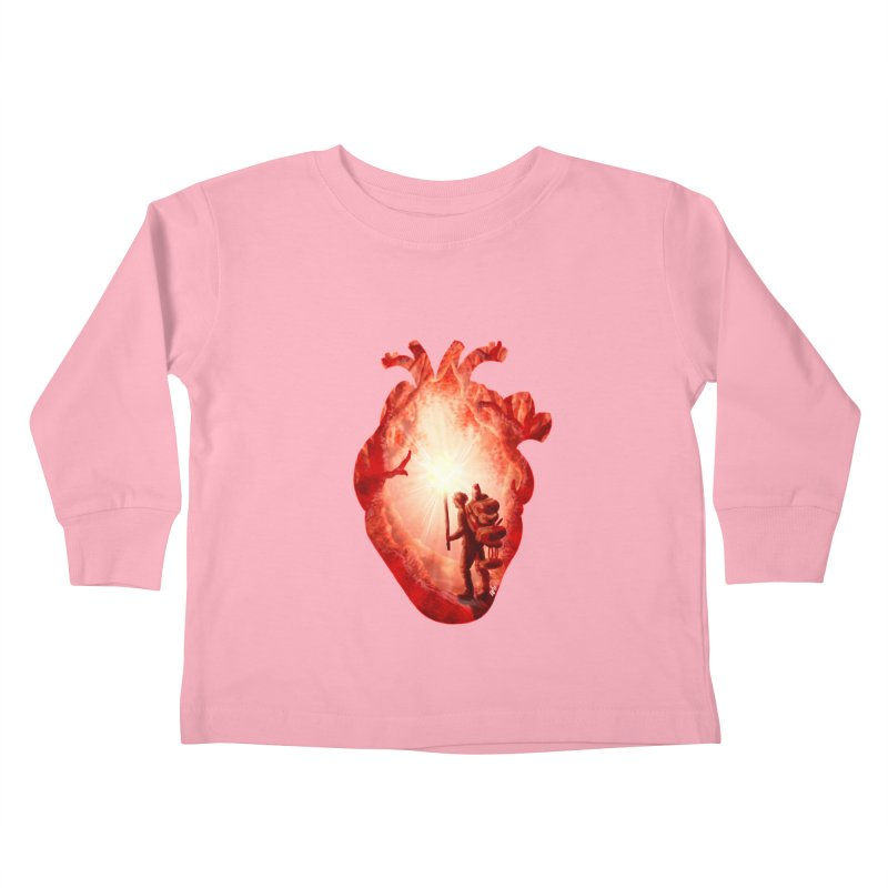 Guiding Light Kids Toddler Longsleeve T-Shirt by DVerissimo's