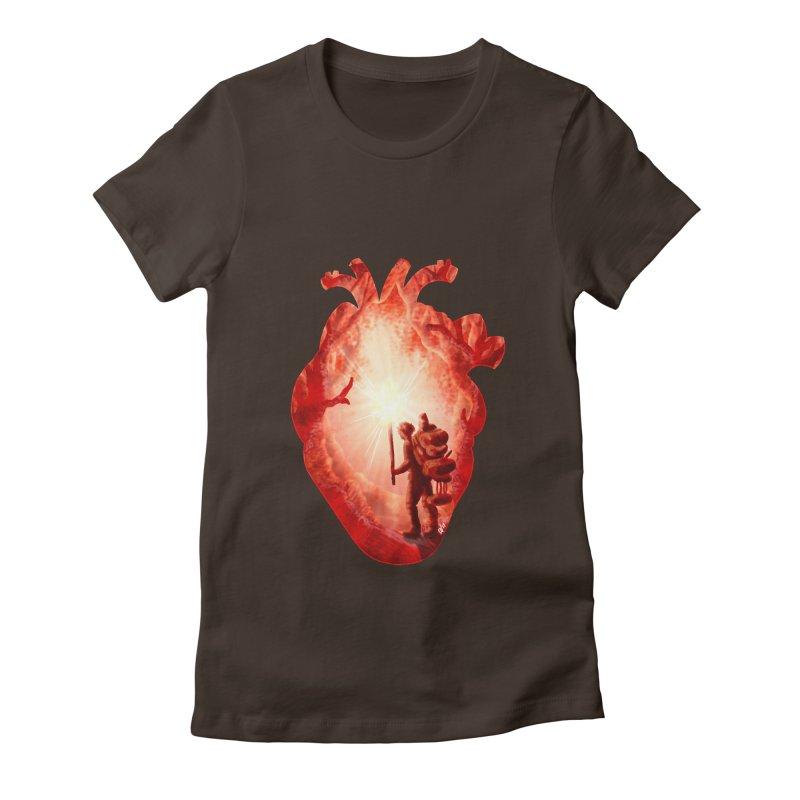 Guiding Light Women's Fitted T-Shirt by DVerissimo's