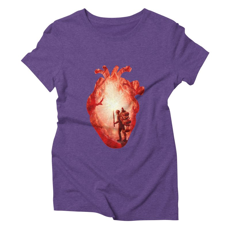 Guiding Light Women's Triblend T-Shirt by DVerissimo's
