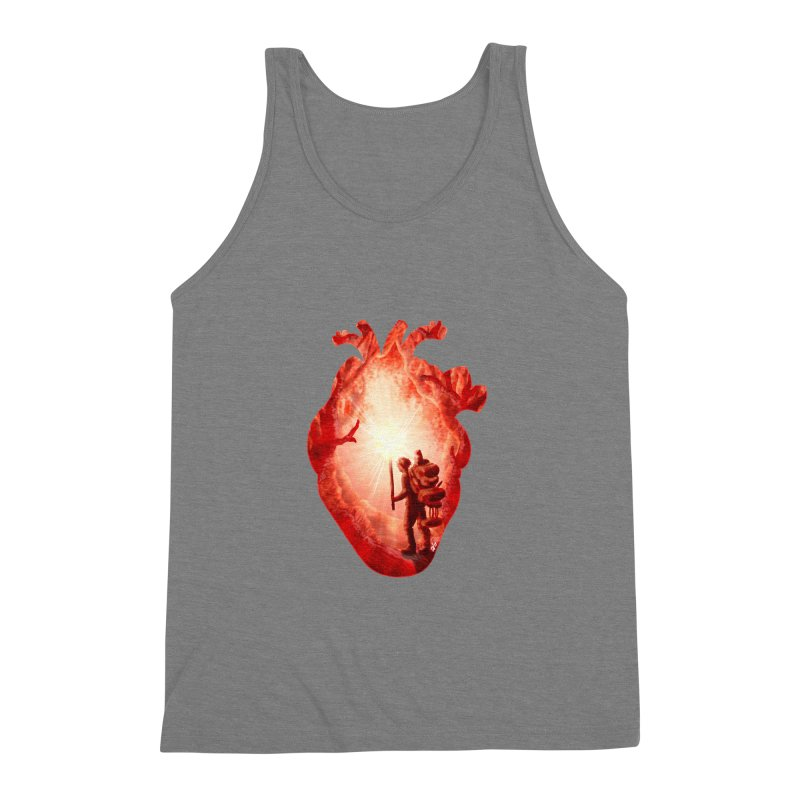 Guiding Light Men's Triblend Tank by DVerissimo's