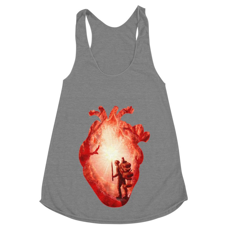 Guiding Light Women's Racerback Triblend Tank by DVerissimo's
