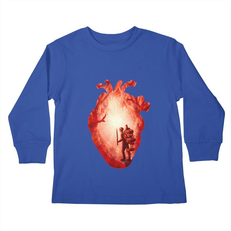 Guiding Light Kids Longsleeve T-Shirt by DVerissimo's