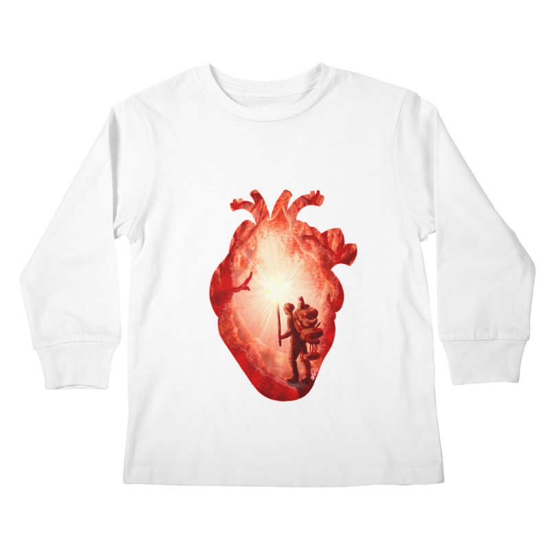 Guiding Light Kids Longsleeve T-Shirt by DVerissimo's