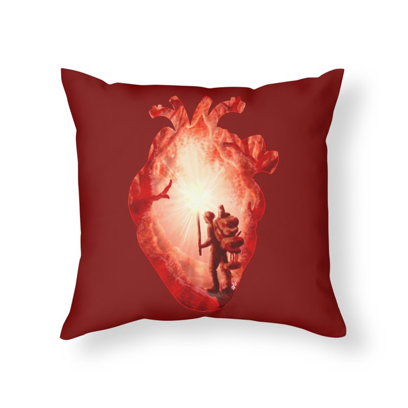 Guiding Light Home Throw Pillow by DVerissimo's