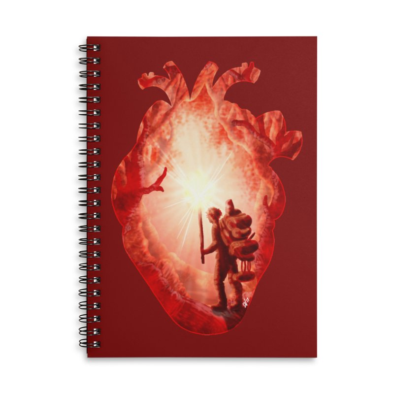 Guiding Light Accessories Lined Spiral Notebook by DVerissimo's