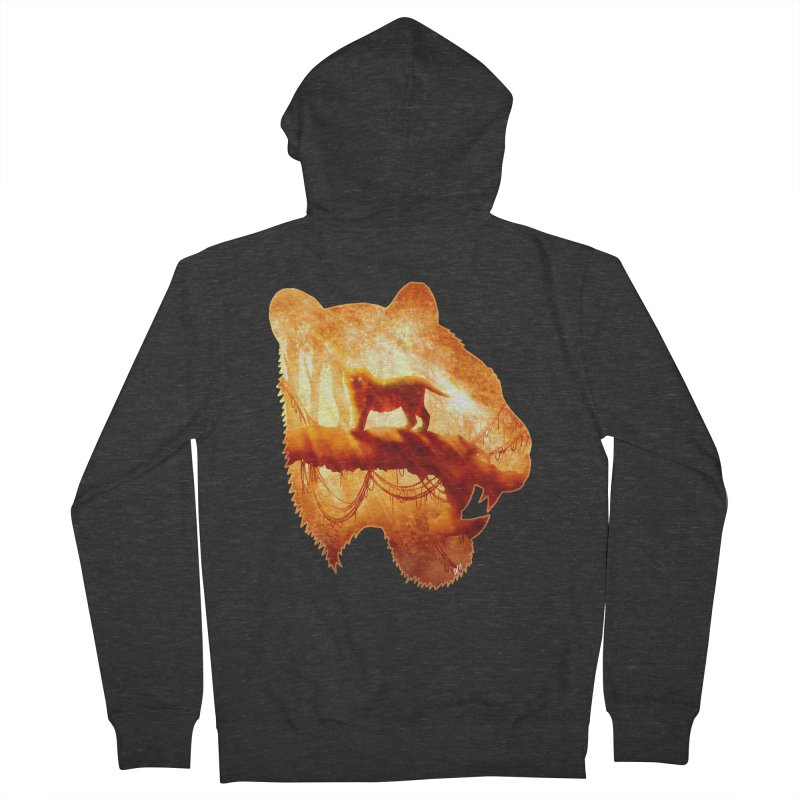 Tiger's Jungle Men's Zip-Up Hoody by DVerissimo's