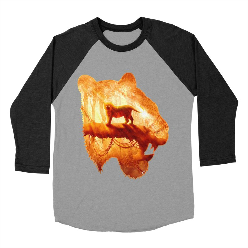 Tiger's Jungle Women's Baseball Triblend Longsleeve T-Shirt by DVerissimo's