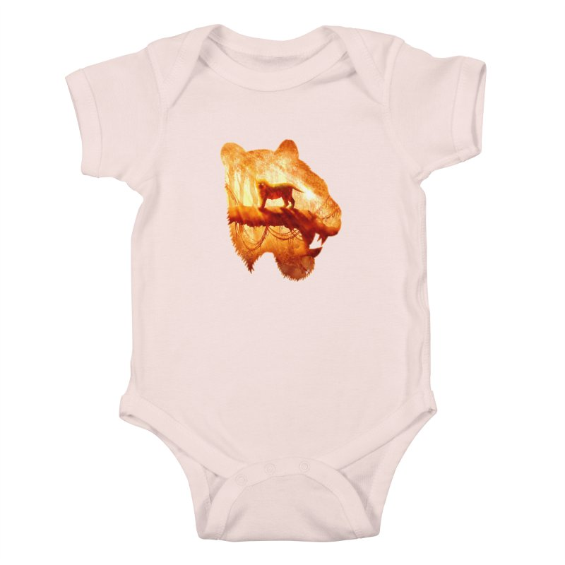 Tiger's Jungle Kids Baby Bodysuit by DVerissimo's