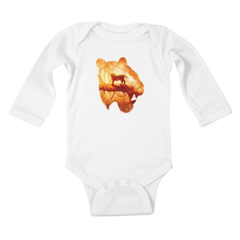 Tiger's Jungle Kids Baby Longsleeve Bodysuit by DVerissimo's
