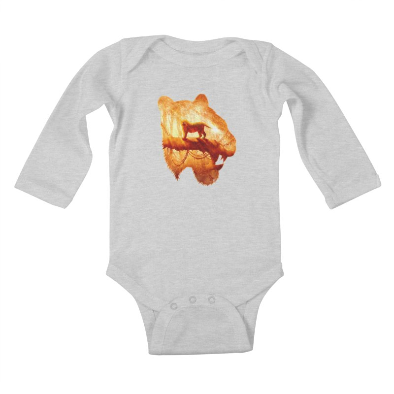 Tiger's Jungle Kids Baby Longsleeve Bodysuit by DVerissimo's