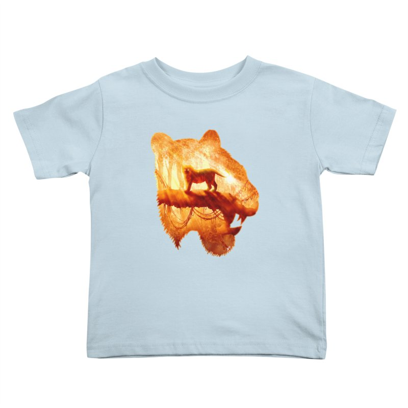 Tiger's Jungle Kids Toddler T-Shirt by DVerissimo's