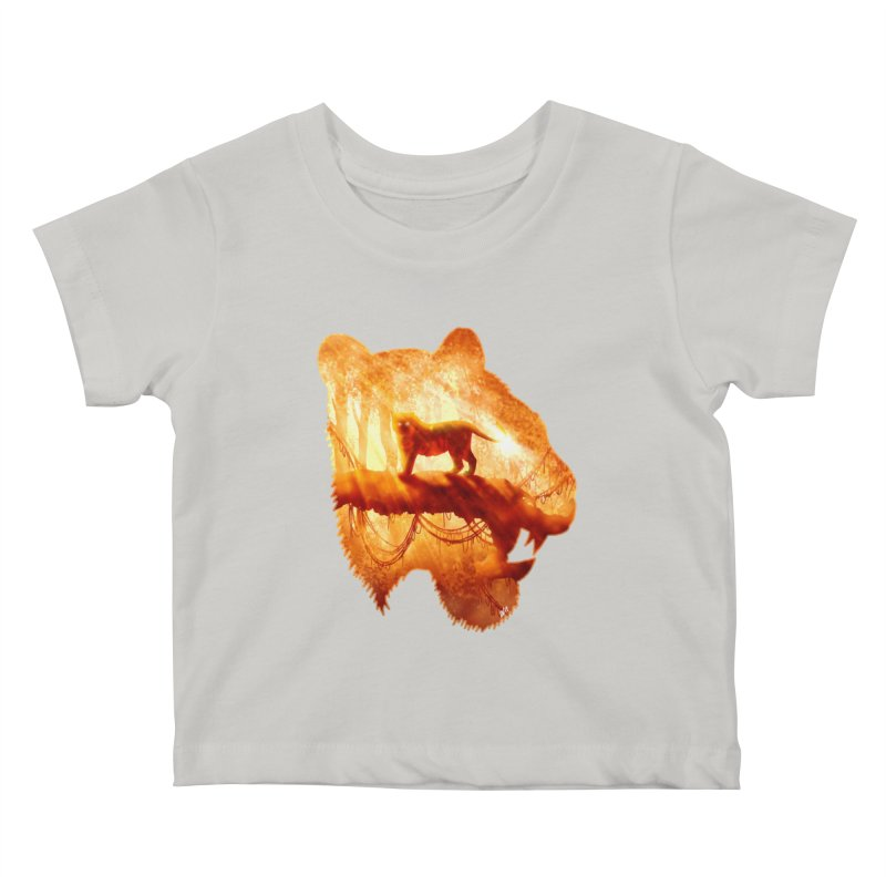Tiger's Jungle Kids Baby T-Shirt by DVerissimo's