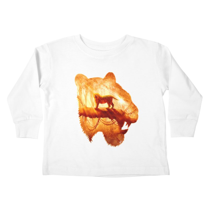 Tiger's Jungle Kids Toddler Longsleeve T-Shirt by DVerissimo's