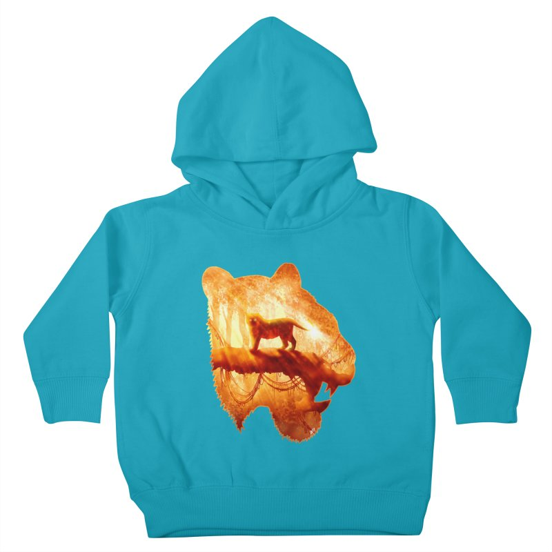 Tiger's Jungle Kids Toddler Pullover Hoody by DVerissimo's