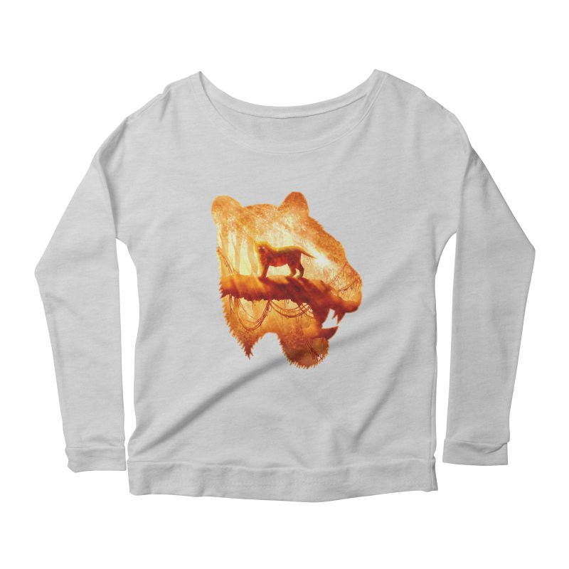 Tiger's Jungle Women's Scoop Neck Longsleeve T-Shirt by DVerissimo's