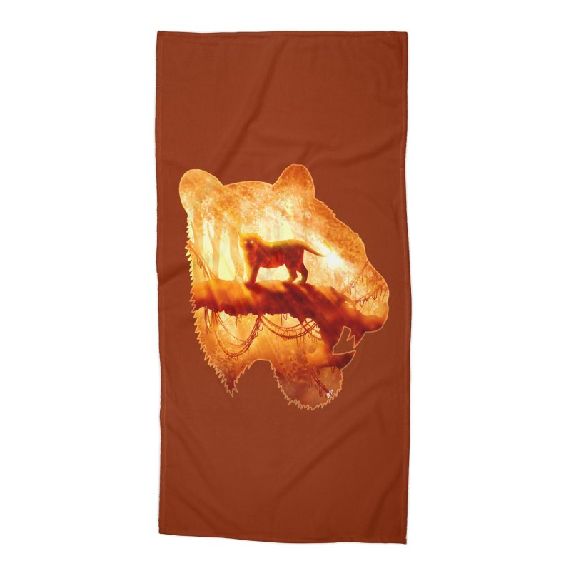Tiger's Jungle Accessories Beach Towel by DVerissimo's
