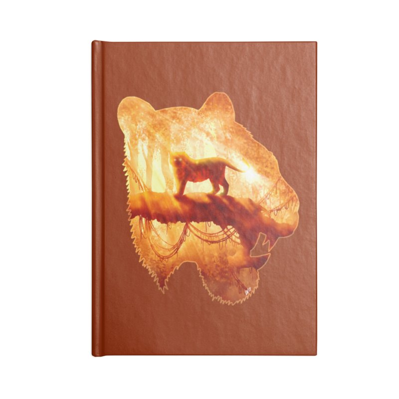 Tiger's Jungle Accessories Lined Journal Notebook by DVerissimo's