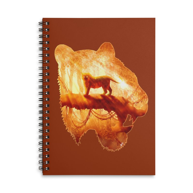 Tiger's Jungle Accessories Lined Spiral Notebook by DVerissimo's