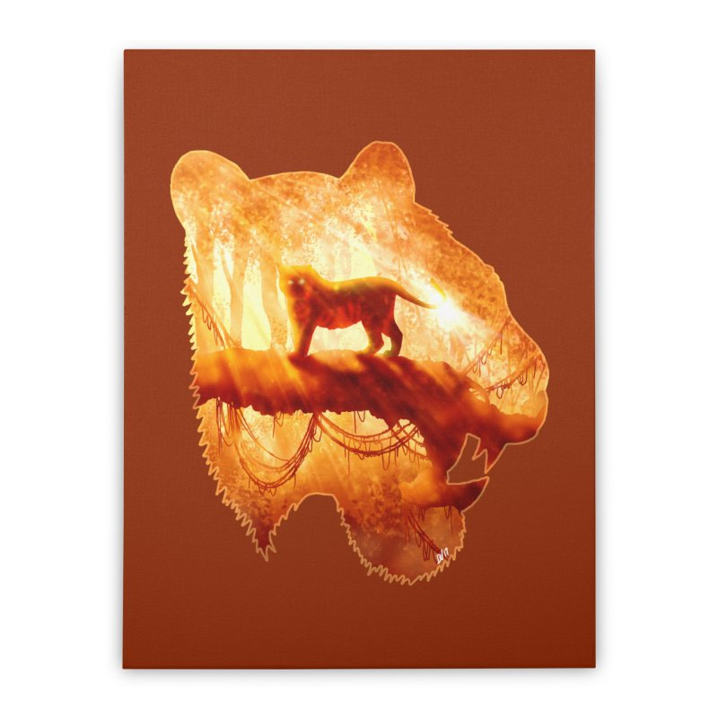 Tiger's Jungle Home Stretched Canvas by DVerissimo's