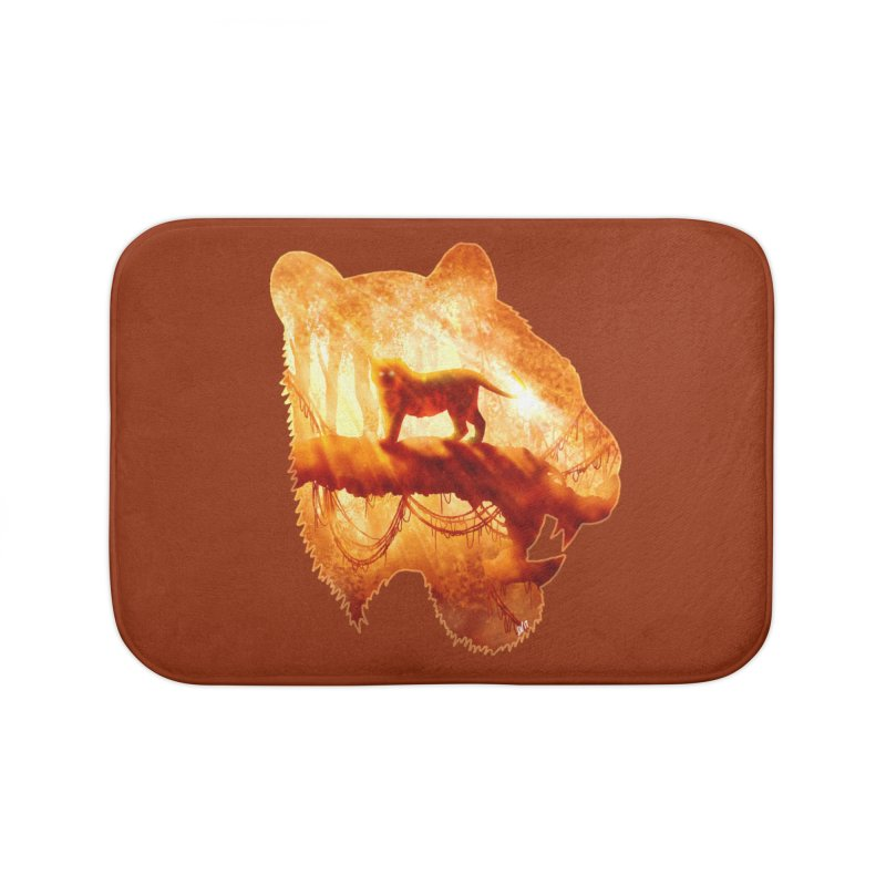 Tiger's Jungle Home Bath Mat by DVerissimo's