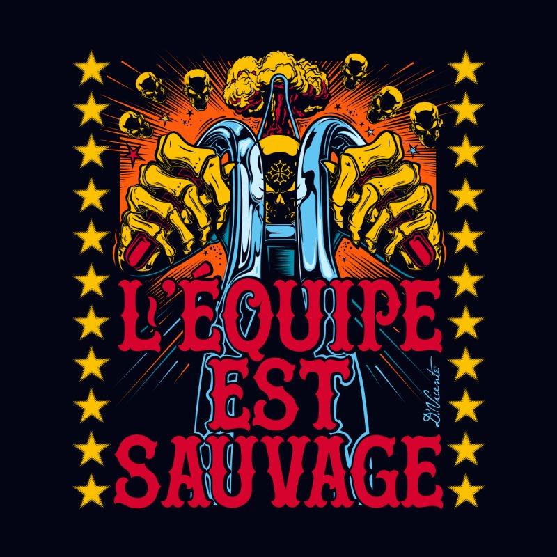 L'EQUIPE EST SAUVAGE Men's T-Shirt by Copyright  David Vicente © 2020