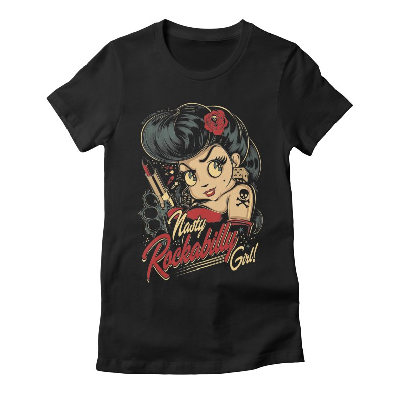 NASTY BETTY COOL Women's Fitted T-Shirt by Copyright  David Vicente © 2016  -  All rights res