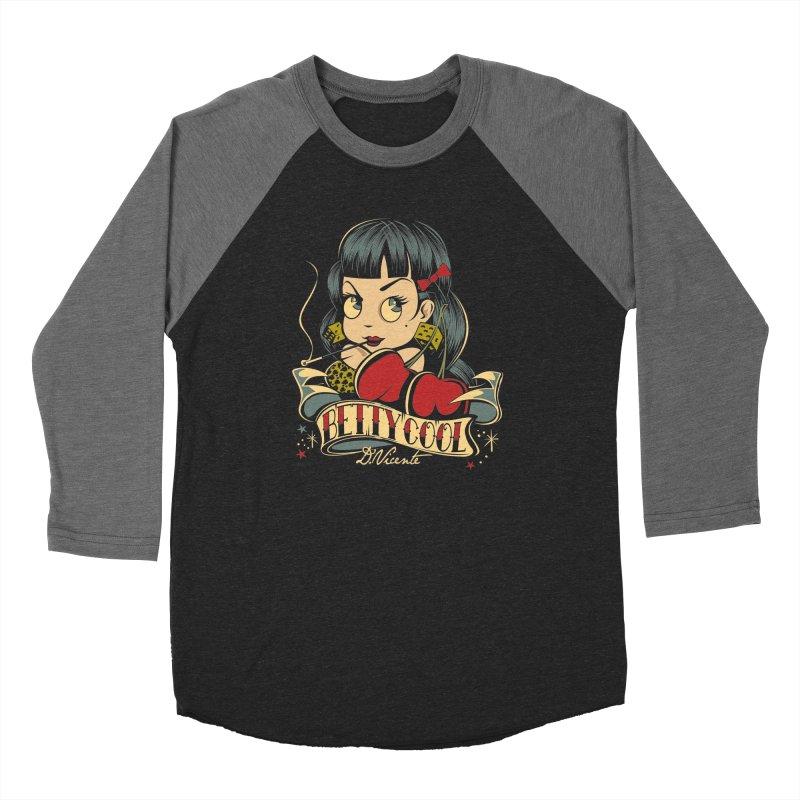 CLASSIC BETTY COOL Women's Baseball Triblend Longsleeve T-Shirt by Copyright  David Vicente © 2019