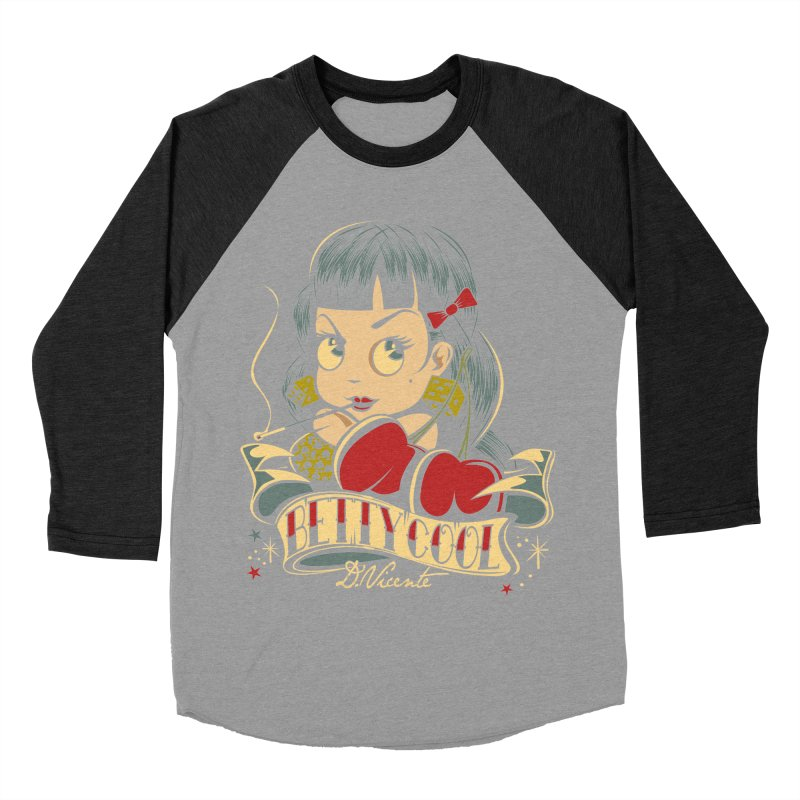 CLASSIC BETTY COOL Women's Baseball Triblend Longsleeve T-Shirt by Copyright  David Vicente © 2016  -  All rights res