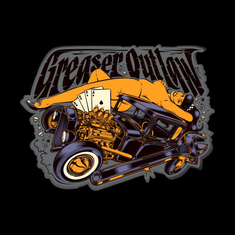 GREASER OUTLAW Men's T-Shirt by Copyright  David Vicente © 2016  -  All rights res