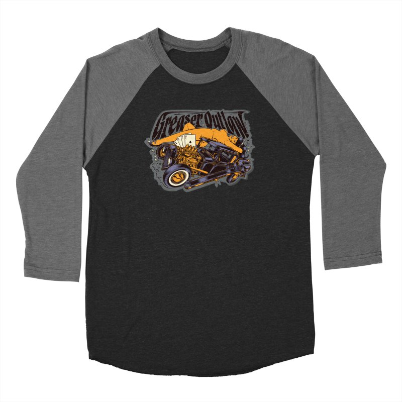 GREASER OUTLAW Men's Baseball Triblend Longsleeve T-Shirt by Copyright  David Vicente © 2019