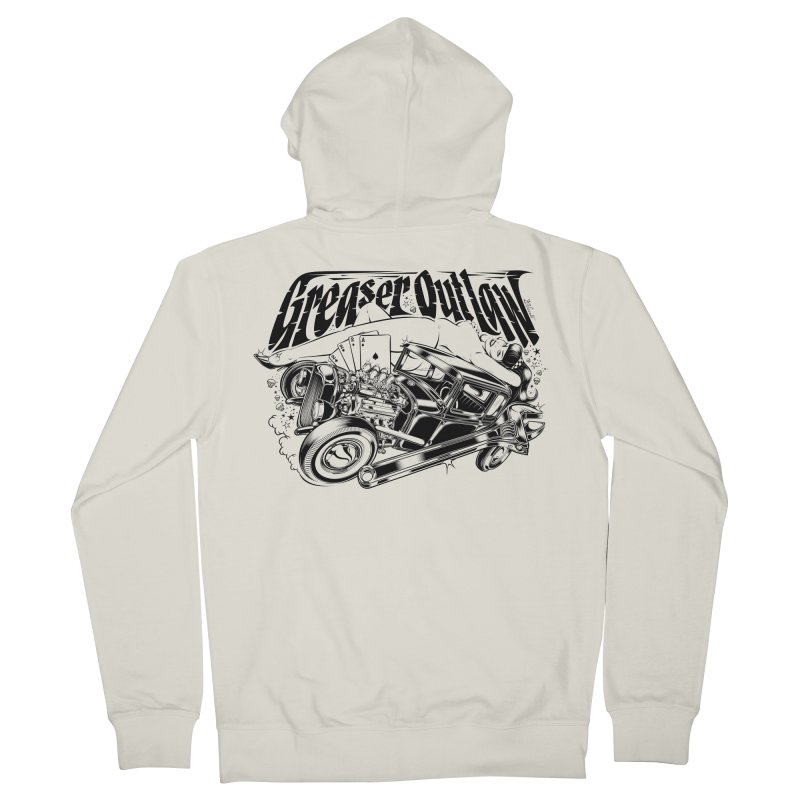 GREASER OUTLAW Men's Zip-Up Hoody by Copyright  David Vicente © 2016  -  All rights res