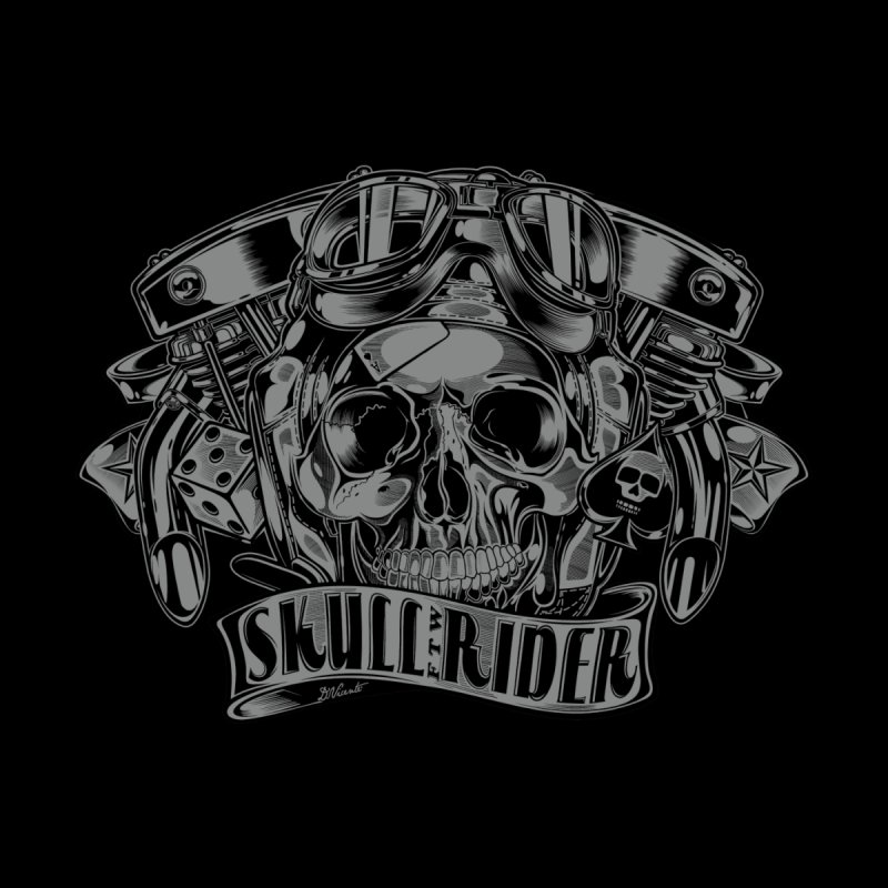 SKULL RIDER Men's T-Shirt by Copyright  David Vicente © 2016  -  All rights res