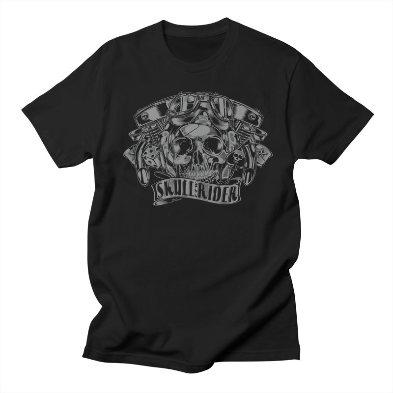 SKULL RIDER Men's Regular T-Shirt by Copyright  David Vicente © 2016  -  All rights res