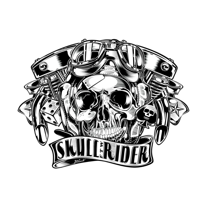 SKULL RIDER Men's Zip-Up Hoody by Copyright  David Vicente © 2016  -  All rights res